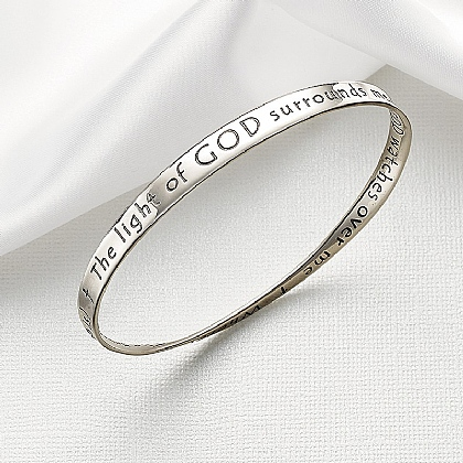 Museum Selection Prayer For Protection Silver Bangle