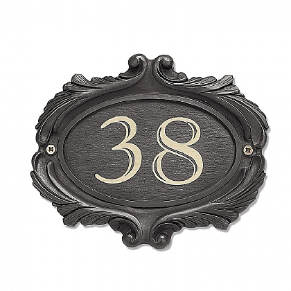 Scroll House Number Plaque