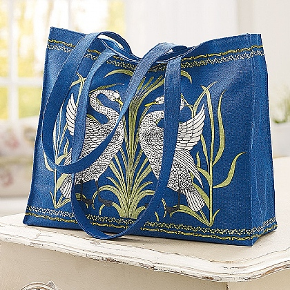 Swan Cotton Tote Bag