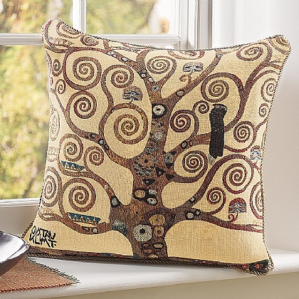 Klimt's Tree of Life Tapestry Cushion