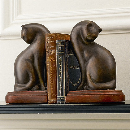 Museum Selection Cat Art Deco Bookends