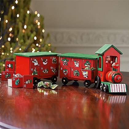 Wooden Advent Train