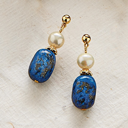 Imperial Roman Lapis Earrings