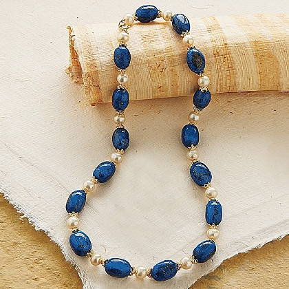 Imperial Roman Lapis Necklace