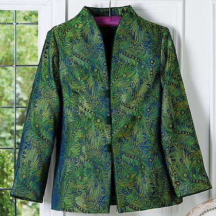 Museum Selection Peacock Brocade Jacket