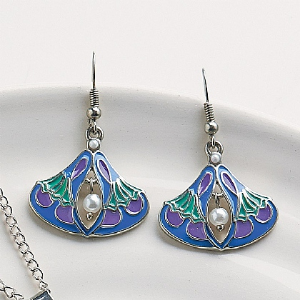 Vever Enamel Earrings