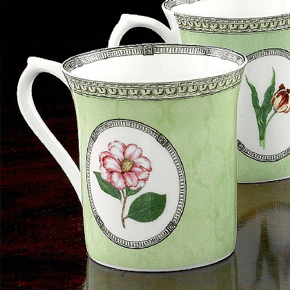 Pink Camellia Bone China Mug