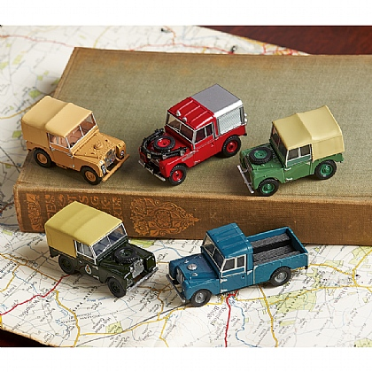 Museum Selection Set of 5 Land Rover Models