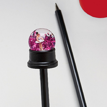 Museum Selection Ballerina Snow Globe Pen