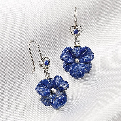 Lapis Manuscript Earrings