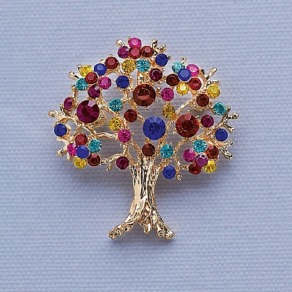 Klimt Tree Brooch
