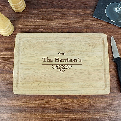 Museum Selection Personalised Large Chopping Board