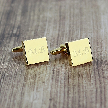 Museum Selection Personalised Gold-Plated Cufflinks