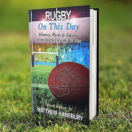 Personalised On this Day book - Rugby