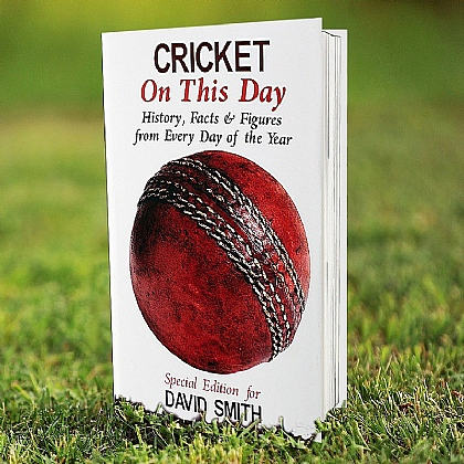 Personalised On this Day book - Cricket