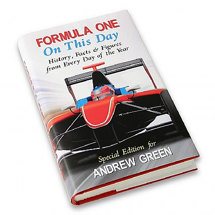 Museum Selection Personalised On this Day book - Formula One