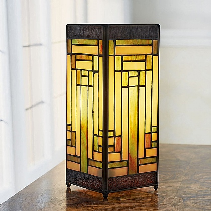 Deco Stained Glass Lamp