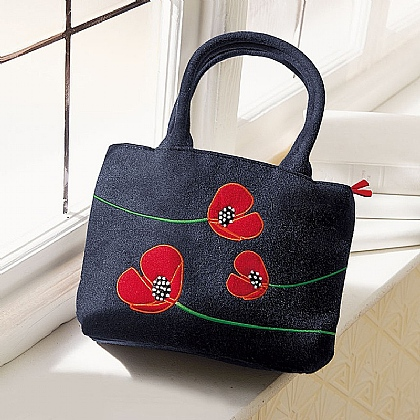 Stylised Poppies Bag