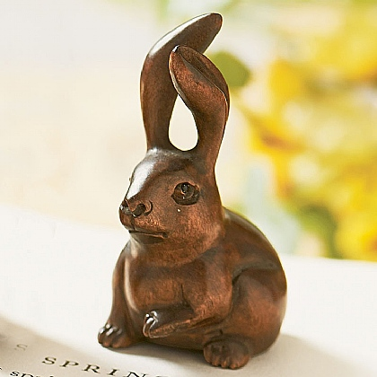 Sitting Rabbit Netsuke
