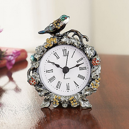 Museum Selection Enamelled Bird Clock