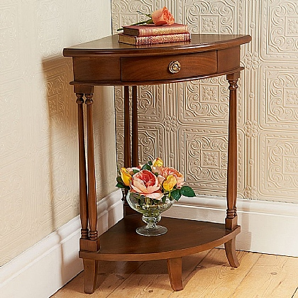 Museum Selection Mahogany Corner Table