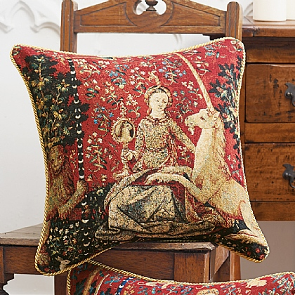Lady & Unicorn 'Sight' Cushion