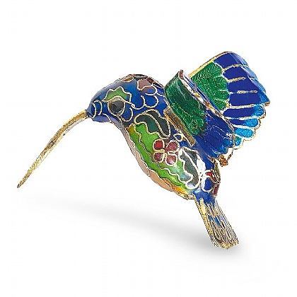 Museum Selection Cloisonne Hummingbird Decoration Blue
