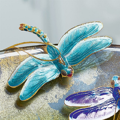 Cloisonne Dragonfly Decoration Turquoise