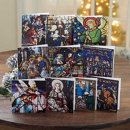 Museum Selection Stained Glass Christmas Cards