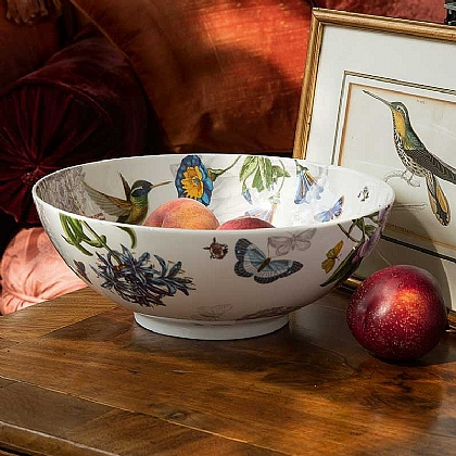 Hummingbird Porcelain Bowl