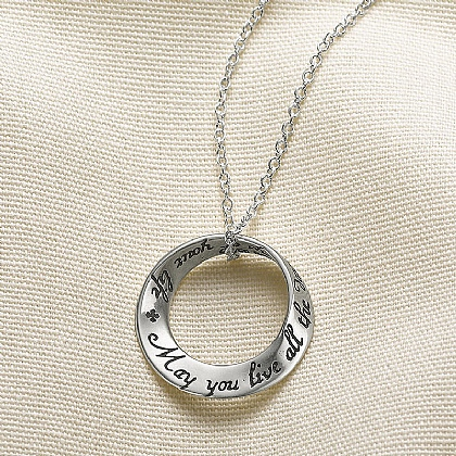 Live All the Days of Your Life Silver Pendant