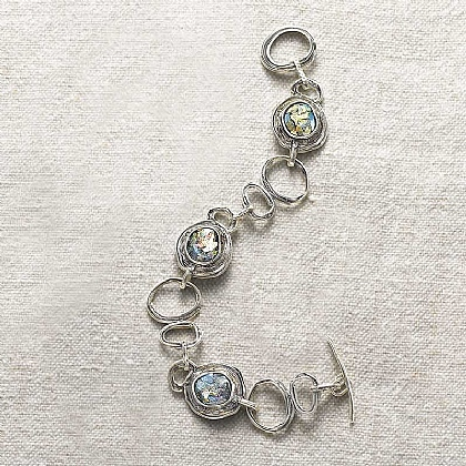 Museum Selection Roman Glass & Silver Bracelet