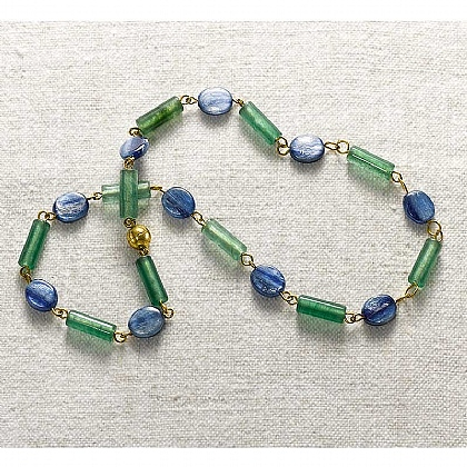 Museum Selection Imperial Jade & Kyanite Necklace