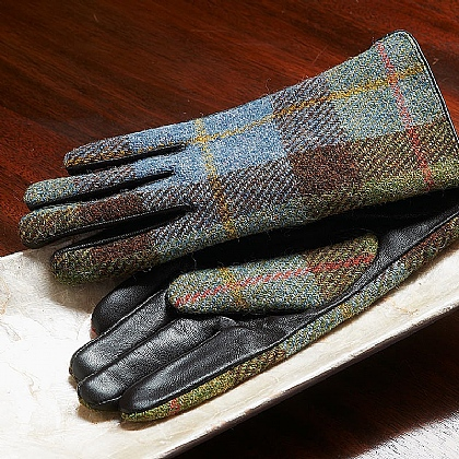 Harris Tweed & Leather Gloves