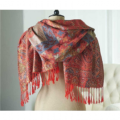 Museum Selection Autumn Paisley Shawl