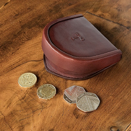 Gentleman's Leather Horseshoe Coin Purse