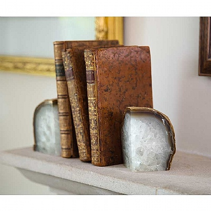 Pair of Agate Bookends