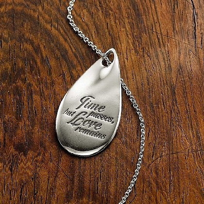 Love Remains Silver Pendant