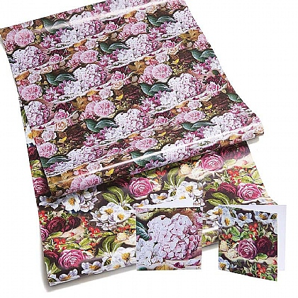 Duffield Hydrangea & Roses Gift Wrap & Tags