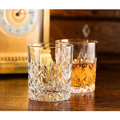 Museum Selection Pair of Lead Crystal Tot Glasses