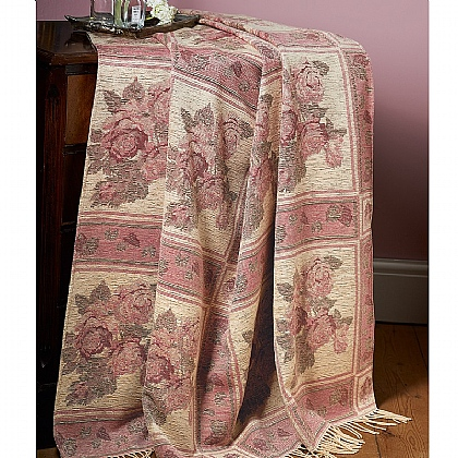 Roses Woven Throw