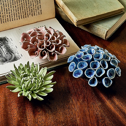 Set of 3 Ceramic Corals