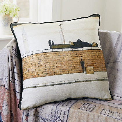 Man Lying on a Wall Cushion