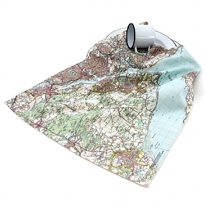 Personalised Landranger Map Tea Towel