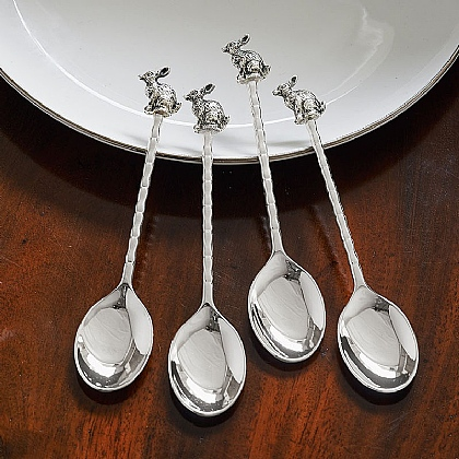 Set of 4 Hare Teaspoons