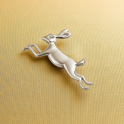 March Hare Pewter Brooch