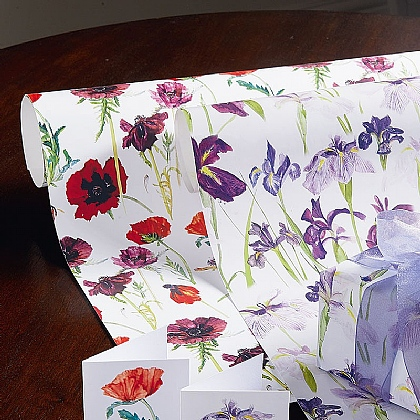 Blackadder Iris & Poppies Wrap & Tags