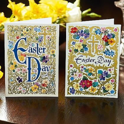 12 Easter Day Filigree Cards