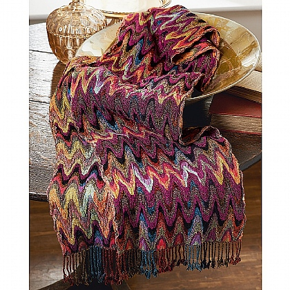 Bargello Multicolour Scarf