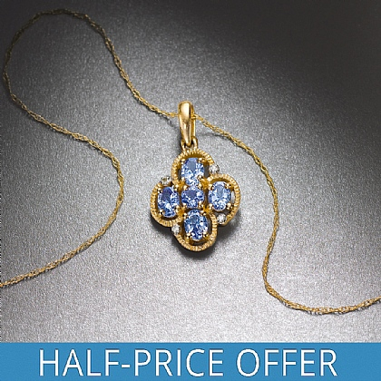 Roberti Gold & Tanzanite & Diamond Pendant
